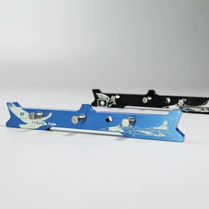 圖片 【OA磁吸壁掛】三孔壁掛_戰鬥機款-勇鷹藍/黑